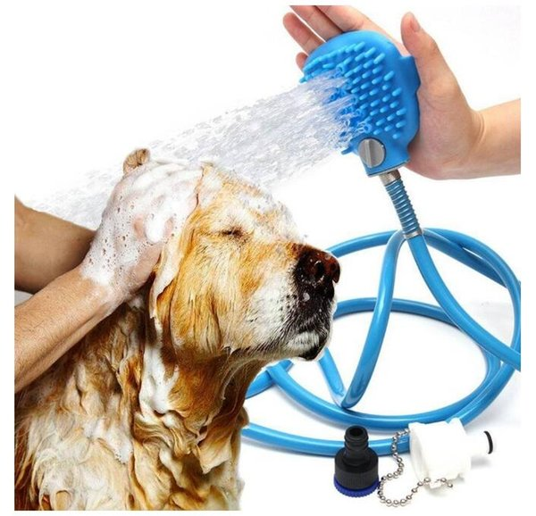 2.5m Pet Shower Spray & brush Dog Cat bathing tools Cleaning and washing Spray hand Massage tools Scrubber DHL shipping