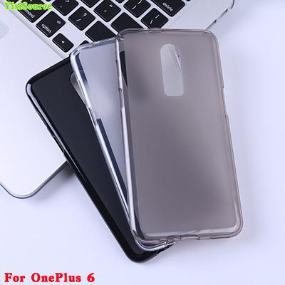 For OnePlus 6 Transparents Soft TPU Phone Cases Ultra Thin Camera Protection Cover Anti-Fingerprint back Shell