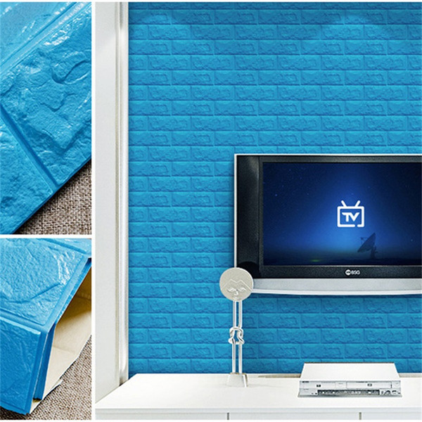 3D Walls Sticker Television Living Room Background Wall Stickers DIY Self Adhesive Foam Water Proof Home Decor 8 5as ff