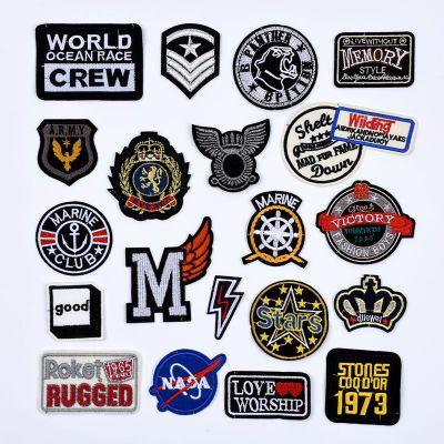 top popular Customized Embroidery Patches Clothing Pastes Hat Badge Pant Trouser Stickers Wallet Bag Star Patches for Jacket Coat DIY Patches 2019