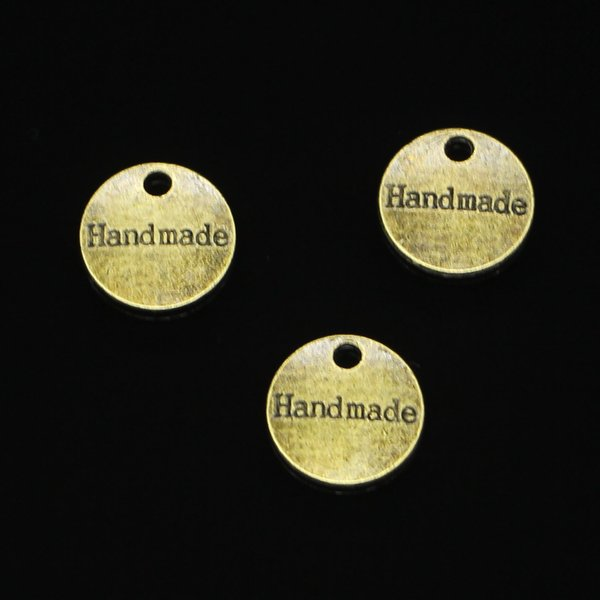 99pcs Antique Bronze Plated handmade Charms Pendant fit Bracelet Necklace Jewelry DIY Making Accessories 14mm