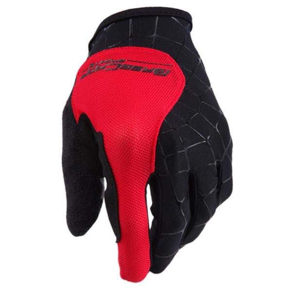 Running Gloves Basecamp Nylon breathable Full Finger Cycling Gloves for Bike(Spider red M L XL)
