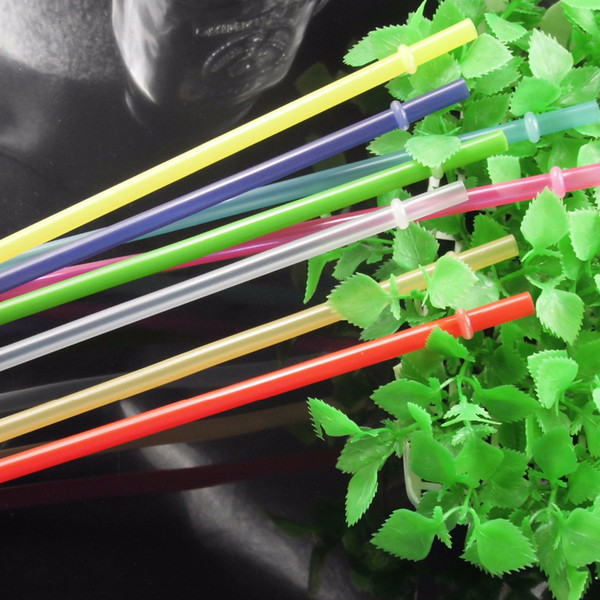 100 Pcs /Lot 23 Cm Length 7mm Diameter Reusable Bar And Party Plastic Drinking Straws /Pure Color Straws For Marson Jar