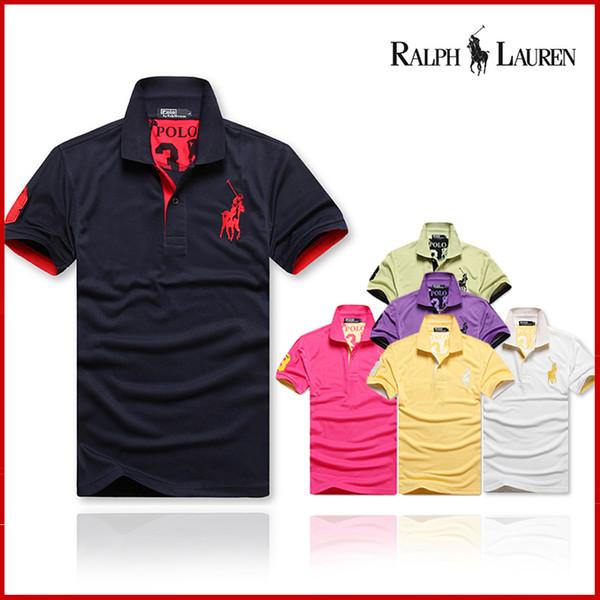Im Jahre 2018, die Kleidung der neuen USA-Ponymänner, Kurzhülse T-Shirt Sommerhemd der Art und Weiseluxusmehrfarbenbaumwollmänner geben Verschiffen frei
