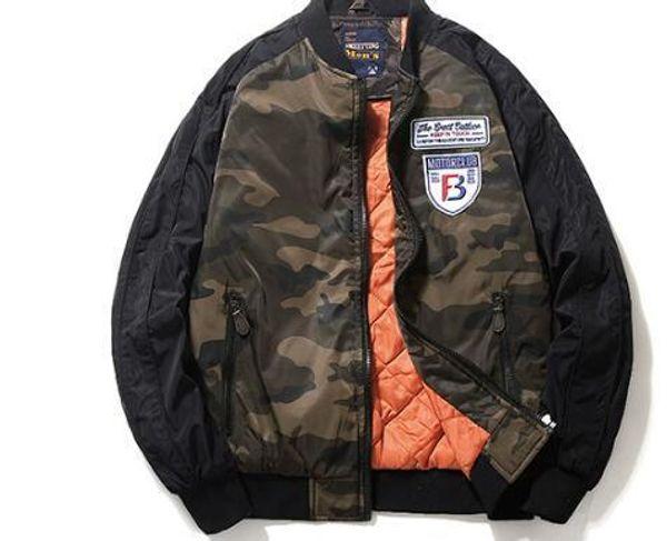 6Autumn aviator jacket male youth Korean embroidery MA-1 baseball uniform camouflage tooling male jacket tide brand