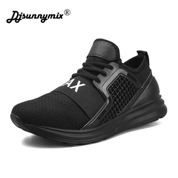 Nova Chegada Dos Homens Malha de Ar Sapatos de Tênis para Homens Formadores Sapatos de Desporto Tênis Masculino Jogging Ao Ar Livre Atlético tamanho grande 46