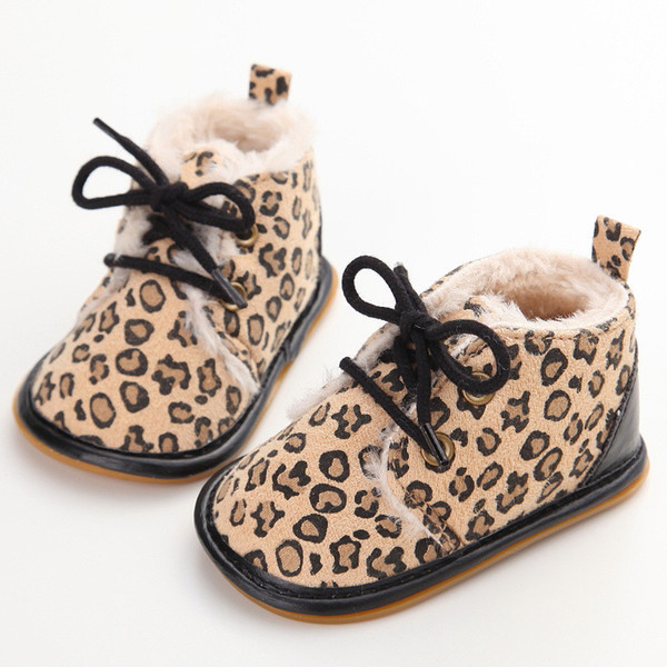 2018 Vintage Rubber Bottom Winter Baby Shoes Boots Non-Slip Newborn Infant T-tied First Walkers Super Warm Baby Booties Zapatos