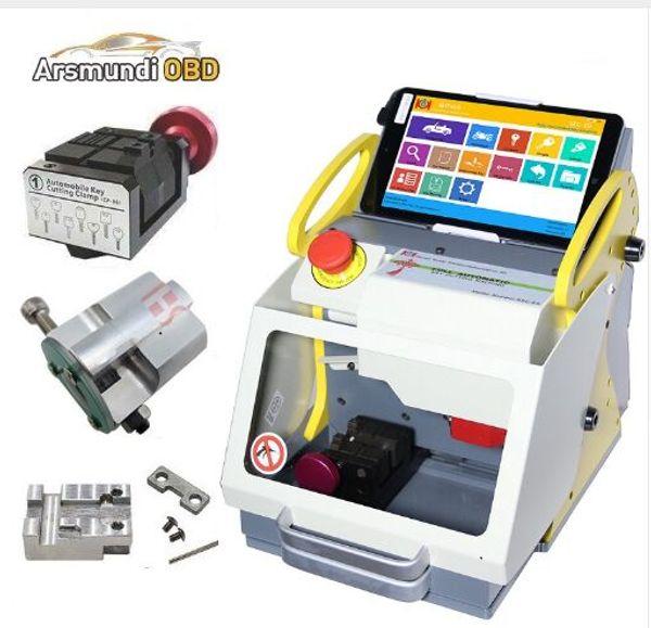 New Russia Language Free Tax Offer SEC E9 automatic key cutting machine SEC-E9 portable smart duplicate car key cutting machine