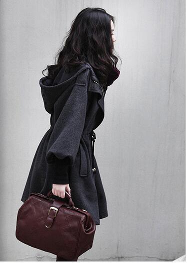 2017 long loose casual hooded women jacket fleece cardigans women 2017 autumn/winter warm thicken wool coat S-3XL