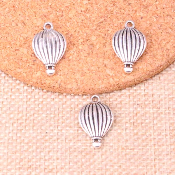 44pcs Antique silver hot air balloon Charms Pendant Fit Bracelets Necklace DIY Metal Jewelry Making 21*13mm