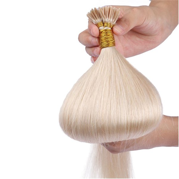 Mongolian Straight I Tip Hair Extensions Mongolian Human Pre bonded Hair Extensions 100 strands 100g G-EASY