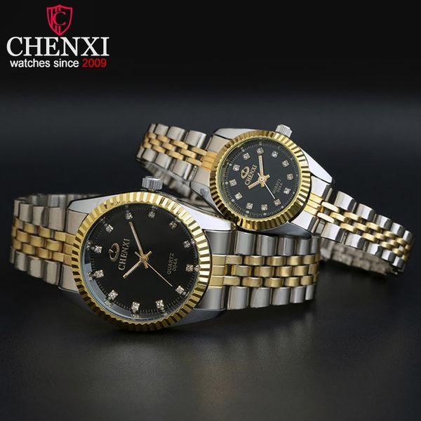 CHENXI Top Marca Casais Amantes Dos Homens de Quartzo Relógio Mulheres Presente Dos Namorados Relógio Relógios Senhoras 30 m À Prova D 'Água relógios de Pulso