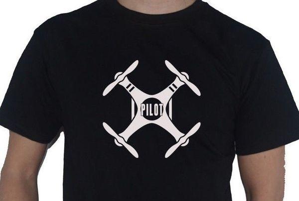 Drone Quadcopter - Pilot - T-shirt Tshirt Style Style Radio Contrôle UAV Quad Copter pour Hommes