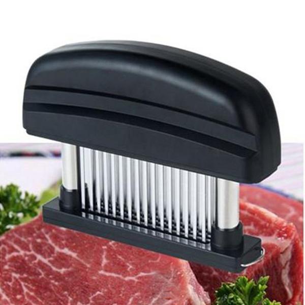 48 Bıçaklar İğne Et Tenderizer Paslanmaz Çelik Bıçak Et Beaf Biftek Mallet Et Tenderizer Çekiç Pounder Pişirme Tavuk Araçları WN339