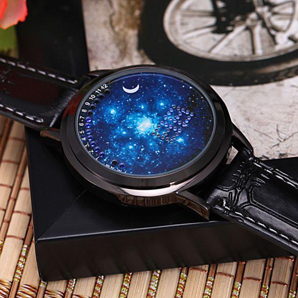 Koreanische Version des Trends der personalisierten Intelligenz, einfache LED leuchtende Touchscreen-Uhr, coole Jungen und Mädchen Sterne Liebhaber Tabelle
