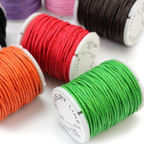 10 Rolls Mixed Colors Waxed Cotton Cord Strings For DIY Crafts Making Macrame Jewelry  Necklace