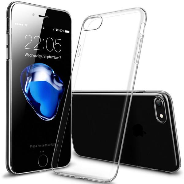 Per IPhone X 10 8 7 Custodia trasparente TPU Clear Case 0.3MM ultra sottile per Samsung Galaxy S8 Plus Note8