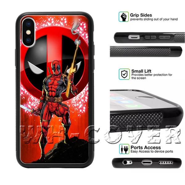 Deadpool 2 Sinal Engraçado Comic Phone Case Marvel Para iPhone i8 i8 i8 i7Plus i7 + i6 i6s SE T6 Capa