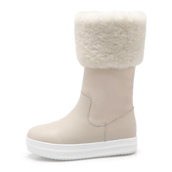 FANIMILA Short Snow Boots Warm Lining Shoes Women Round Toe Winter Snow Boots