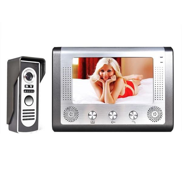 7 inç TFT Renkli Görüntülü kapı telefonu İnterkom Kapı Zili Sistemi Kiti IR Kamera diyafon monitör Hoparlör interkom