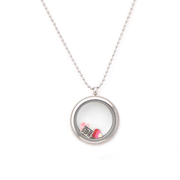 Fashionable High Quality DIY 30mm Round Plain Glass Stainless Steel Floating Locket 5pcs\lot with Free Shipping