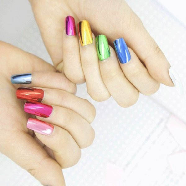 100pcs/set Dual Form Nail System for UV GEL Acrylic Nail Art Mold Tips Decoration