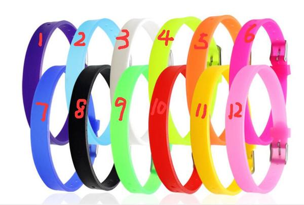 12 colors hot sale Fashion Jewelry 50pcs Silicone Bracelet Fashion Charm Bracelet Personalized Bracelet Fit for 8mm Slide letters Charms