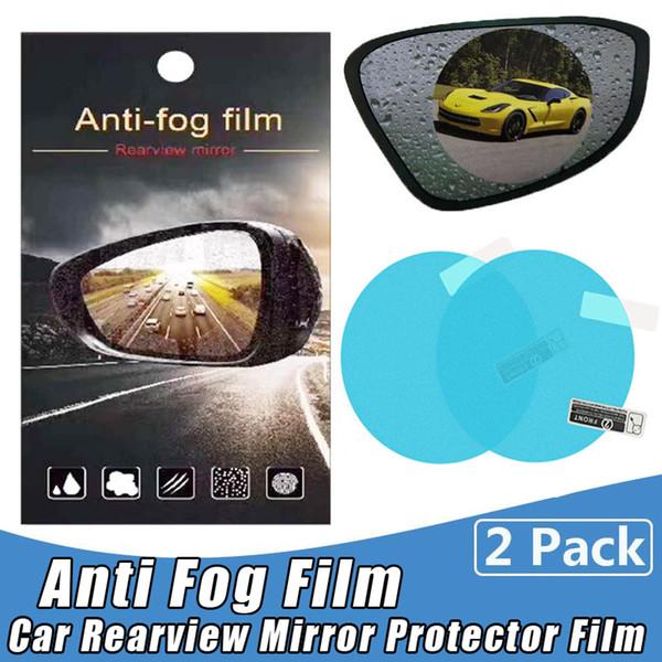 Rétroviseur de voiture imperméable à l'eau Anti film de brouillard Universel Auto Anti-éblouissement Anti-rayures Anti-rayures Rétroviseur Fenêtre de Miroir Clair Film de Protection