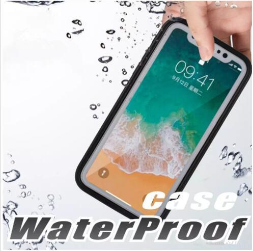 Per Iphone X 8 Case S9 Custodia impermeabile in gomma TPU Completa cover Boday per iphone 7 plus 6 6 Plus Custodia subacquea antipolvere per immersioni subacquee