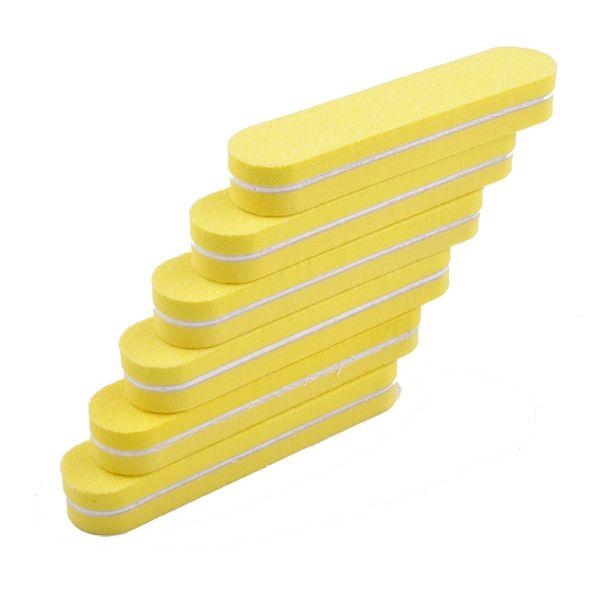 5Pcs Yellow Mini Nail File Buffer Strip 100/180 Buffing Sanding Files DIY Nail Art Tools Washable Pedicure Manicure Polish Tool 5Pcs Yellow