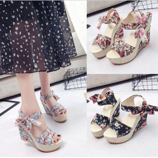 7282274b1010 Sandals Women Summer Shoes Open Toe Fish Head Fashion Top Platform High  Heels Wedge Sandal Female