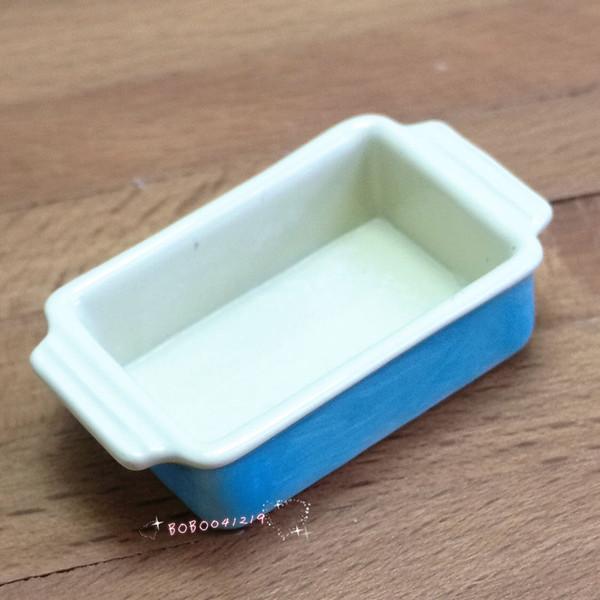 Casa de muñecas en miniatura 1:12 Cocina de juguete Horno metálico Longitud de plato 3.5cm Azul SPO410