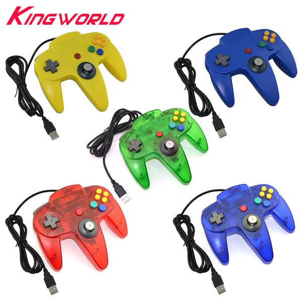 2pcs USB interface Game Controller for PC Gamepad Joystick Not compatible for N64 ( 64 style ) Computer controller