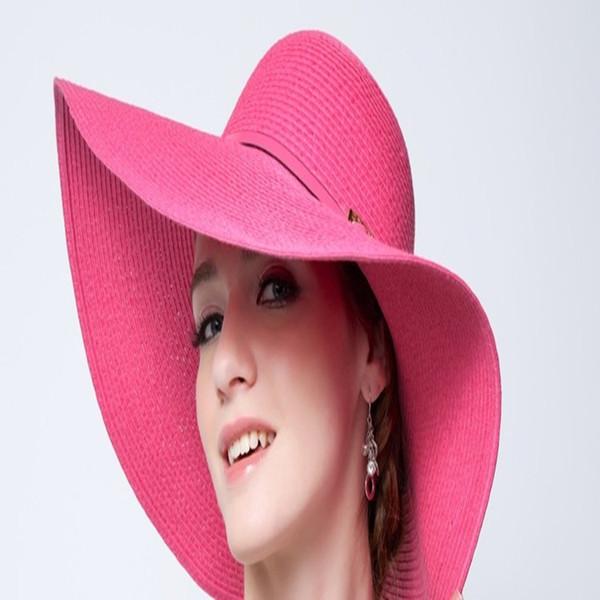 2017 New Fashion Women Summer Sun Hat Big Brim Sun Hat Straw for We Love Fran Customer Sunscreen Travel Cap B-7345