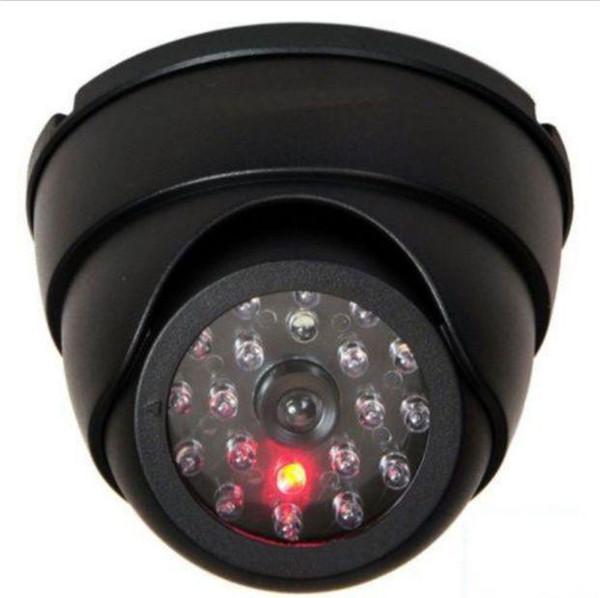 False Dummy Dome Fake Security Camera CCTV IR LED W/ Flashing Red LED Light
