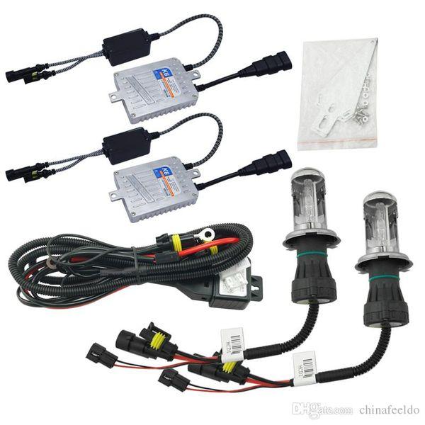 wholesale Car Headlight AC 12V 55W H4 HID Xenon Bulb Hi/Lo Beam Bi-Xenon Bulb Light Slim Ballast HID Kit #4485