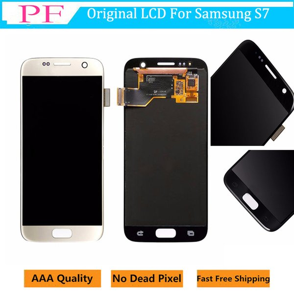 Original LCD For Samsung Galaxy S7 Touch Screen Digitizer Display Assemly 5.1inch LCD Screen Replacement For Samsung G930A G930F G930P