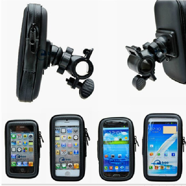 "4.8/"" 5.5/"" Imperméable GPS HOLDER Waterproof Case VTT Cadre Avant Sac"
