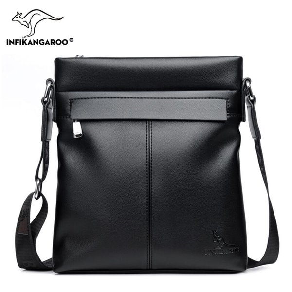6677ca9406 2018 Business Men Genuine Leather Messenger Bags Travel High Quality Male  Shoulder Bag Fashion Vintage Men s
