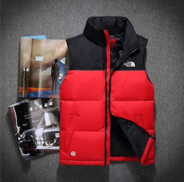 top popular 2018 new Brand double face High Quality Men's Down Vest Down Jacket & Outerwear Coat thick winter sportswear Vest for men 2019