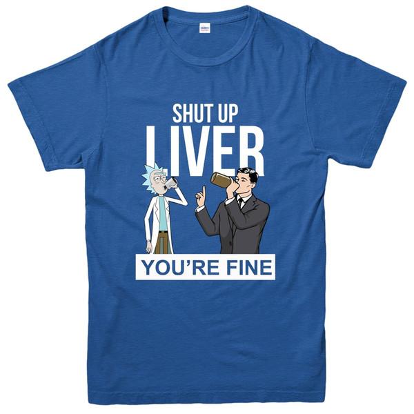 Rick And Morty T-Shirt, Halt die Klappe Leber du bist fein Tee TopFunny kostenloser Versand Unisex Casual Tee Geschenk