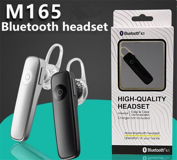 M165 bluetooth casque sans fil écouteurs stéréo oreille Universal Mini casque bluetooth mains libres pour tous les téléphones avec Retail box gratuit DHL