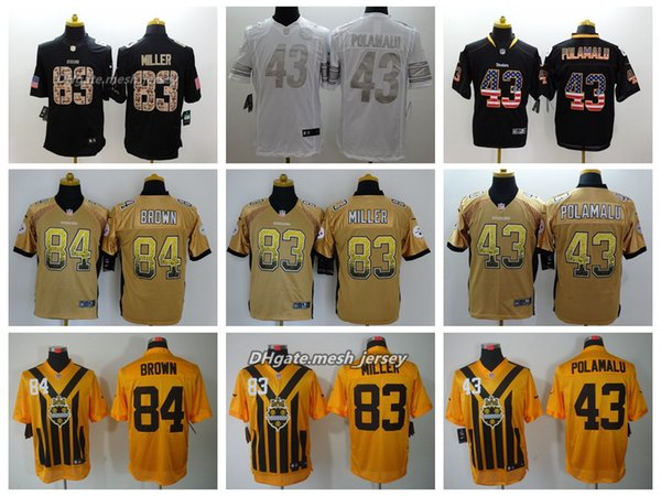 sports shoes 9e456 53b4b 2019 Men Pittsburgh Jersey Steelers 83 Heath Miller 84 Antonio Brown 43  Troy Polamalu Color Rush Football Stitching Jerseys From Num_sport, $22.14  | ...