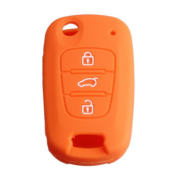 3 Buttons Silicone Remote Key Case Cover For Car Kia Rio Picanto Sportage