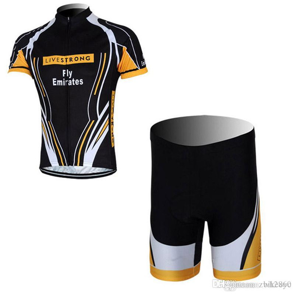 075db7f13 LIVESTRONG team Cycling Short Sleeves jersey (bib) shorts sets mtb  Breathable clothes wear Best
