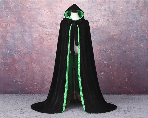 Velvet Hooded Cloak Wedding Cape Halloween Wicca Robe Wicca Robe Wedding Cloaks Wedding Bridal Wraps Bridal Coat Jacket