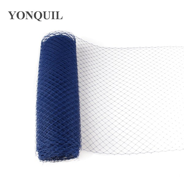 "Royal blue Birdcage Veils 10""(25cm) For women Millinery Hat Mesh Veil fascinator nettings material DIY Hair accessories 10yard/lot Free ship"