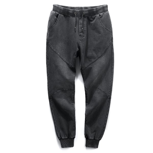 Anbican Brand 2018 Fashion Black Men's Harem Jeans Stretch Cotton Casual Loose Jeans Men Denim Jogger Pants Big Size 6XL 7XL 8XL