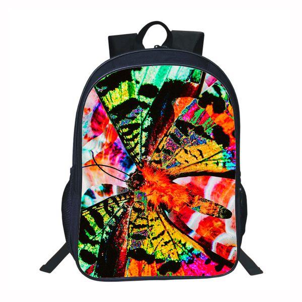 Einzigartige Schmetterling so hell Schultaschen für Mädchen Kinder Buch Taschen Grundschüler über Nacht Packung