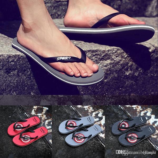 America designer slippers mens wome soft flip flops man casual beach slippers designer outdoor walking comfortable sandals good quality